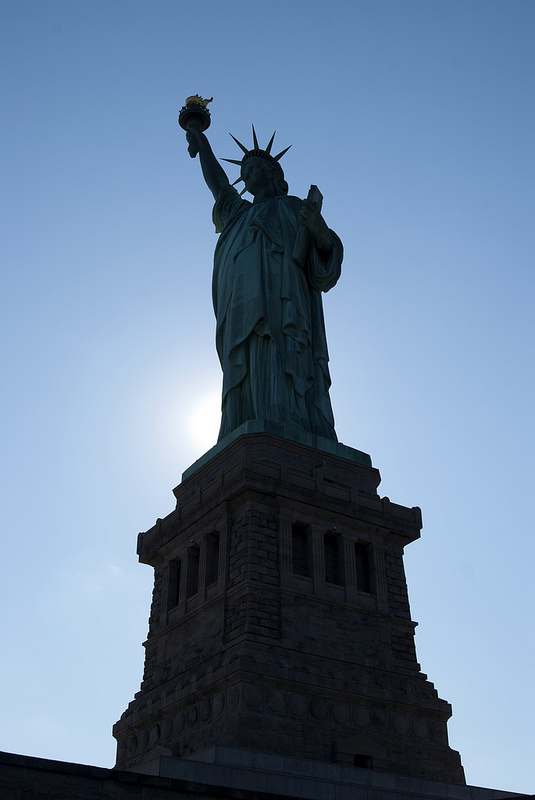 Lady Liberty Silhouette by Unflux